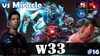w33 - Storm Spirit MID | vs Miracle- (PL) | Dota 2 Pro MMR Gameplay #16