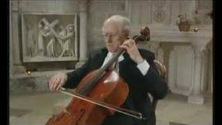 Rostropovich plays the Prelude from Bach