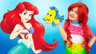 Elsa wants to Turn Into Ariel - The Little Mermaid and calls sister for help | Super Elsa