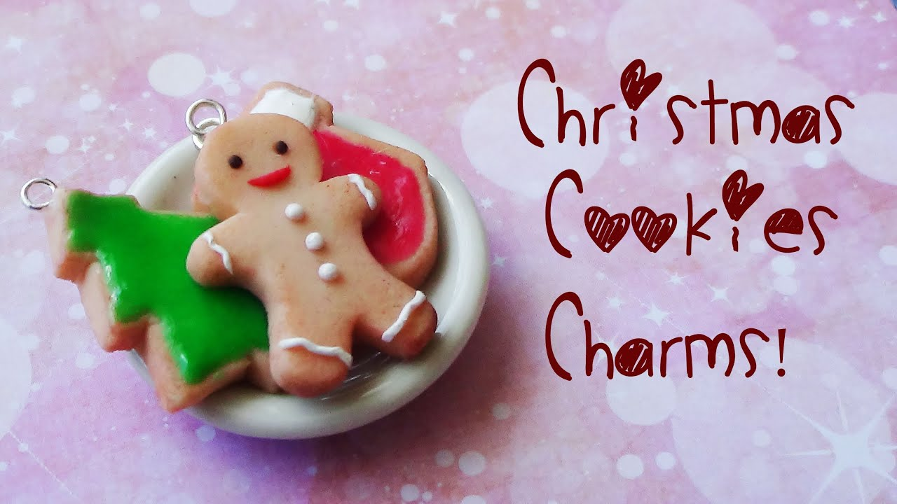 Christmas Cookies Charms - Polymer Clay Tutorial {Christmas Month ...