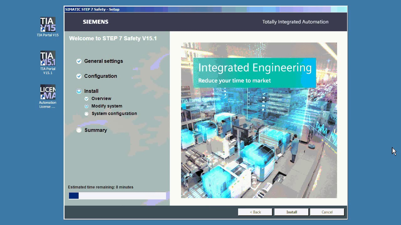 Instalace TIA Portal V15 1 - SIMATIC Safety / TIA Portal V15 1 installation  SIMATIC Safety