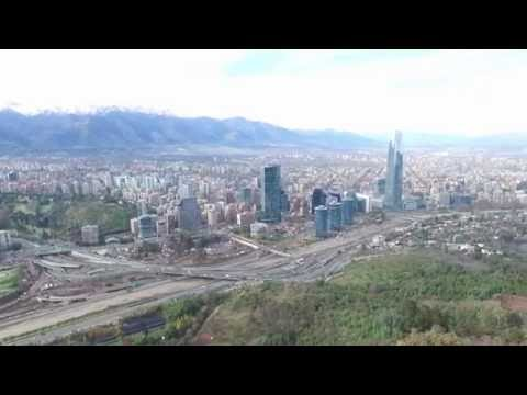 Phantom 3 Advanced aerial view Santiago de Chile from 600  Meters above sea level