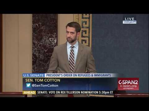 January 30, 2017: Sen. Cotton speaks on the Senate floor