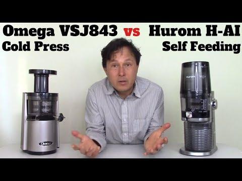 Hurom H-AI Vs Omega VSJ843 Cold Press Juicer Comparison Review