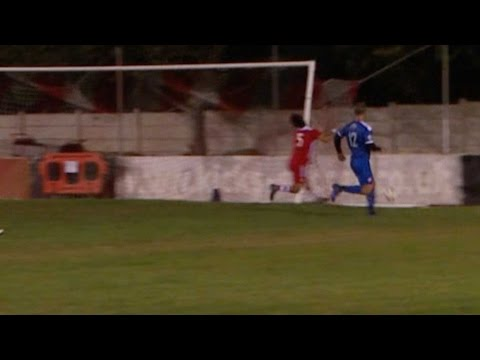Footballer Collides Face First Into Goal Post