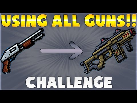 Pixel Gun 3D Challenge: Using Every Single Weapon In The Game!