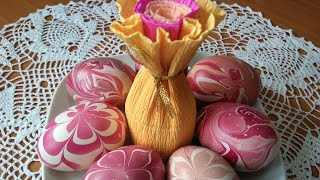Необычные пасхальные яйца. Как сделать красивый декор на яичной скорлупе лаком для ногтей.