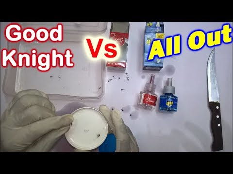 Mosquito Drop in Good Knight & All  Out Liquid | Will Die or Not Experiment