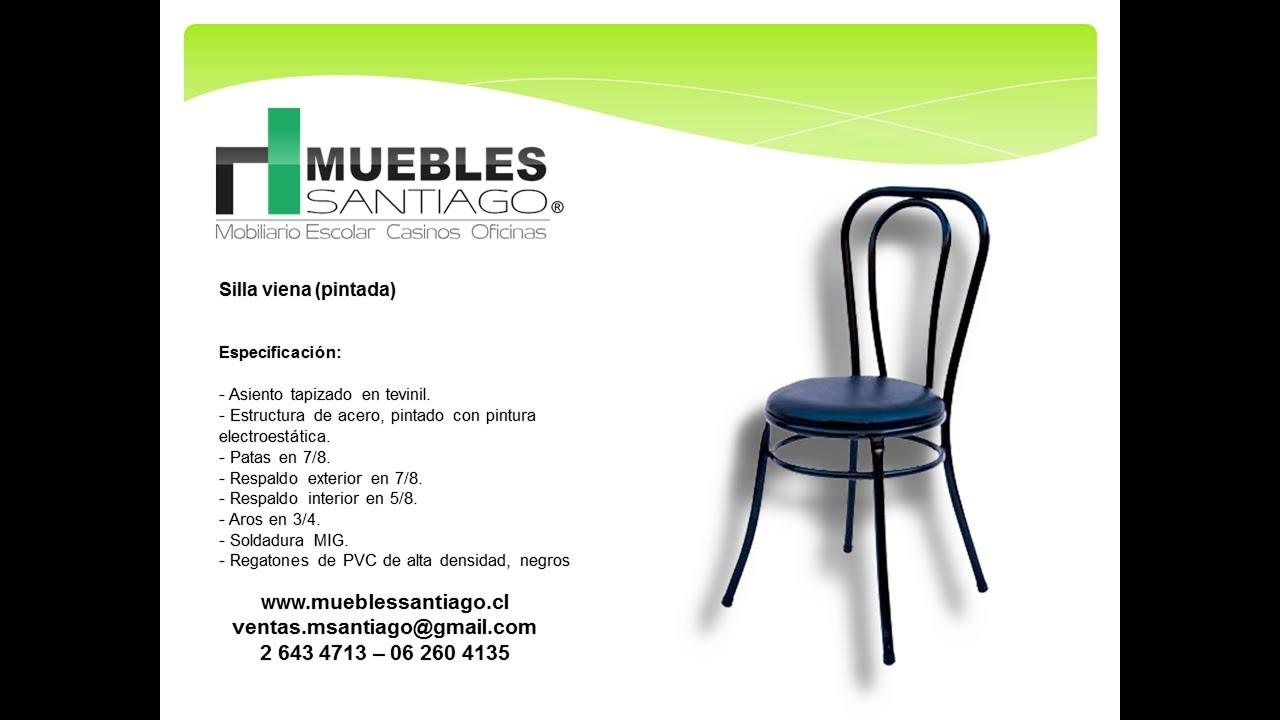 Silla viena pintada silla de casino muebles santiago for Muebles santiago