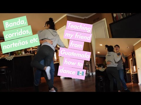 teaching my friend how to dance to mexican music *funny af*
