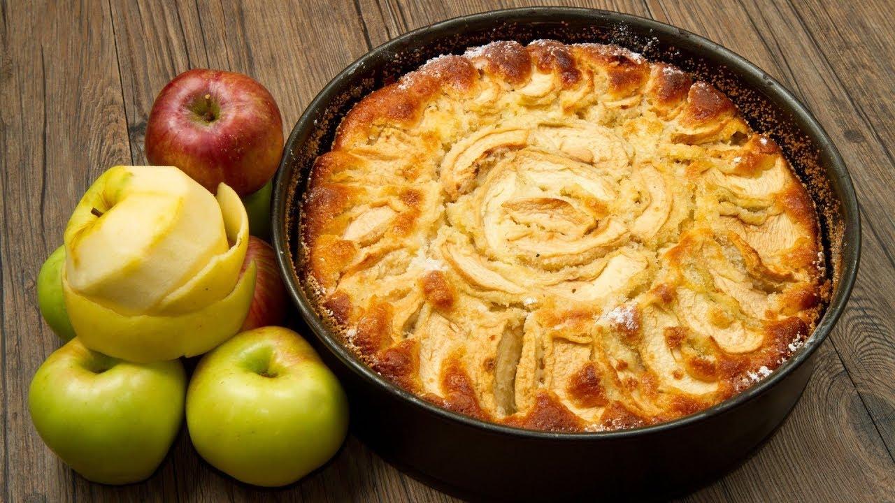 как приготовить шарлотку с яблоками в духовке пышную
