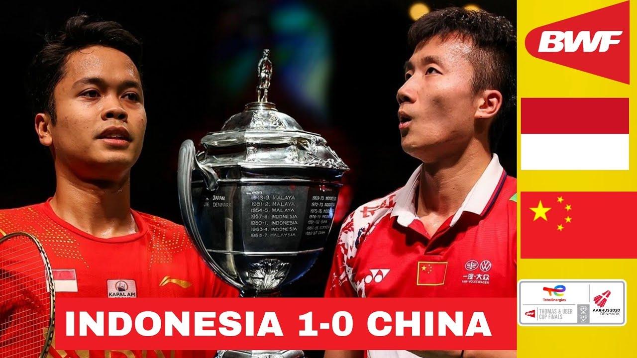 Download Indonesia vs China Thomas Cup 2021, Anthony Ginting 'Si Tukang Tipu' Sukses Kalahkan Lu Guang Zu!