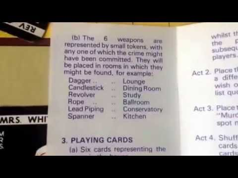 Cluedo Board Game Rules Instructions How To Play Youtube