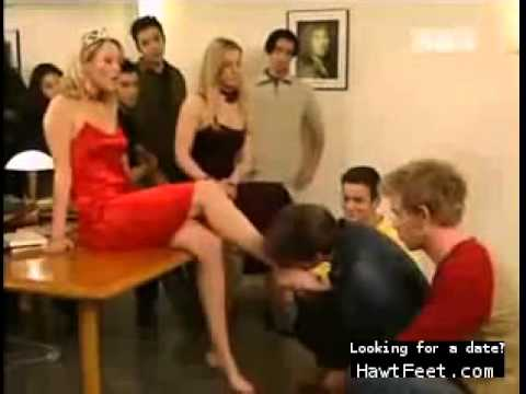 Princess makes men kiss her feet (femdom scene) from YouTube · Duration:  1 minutes 44 seconds