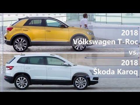 2018 Volkswagen T Roc vs 2018 Skoda Karoq technical comparison