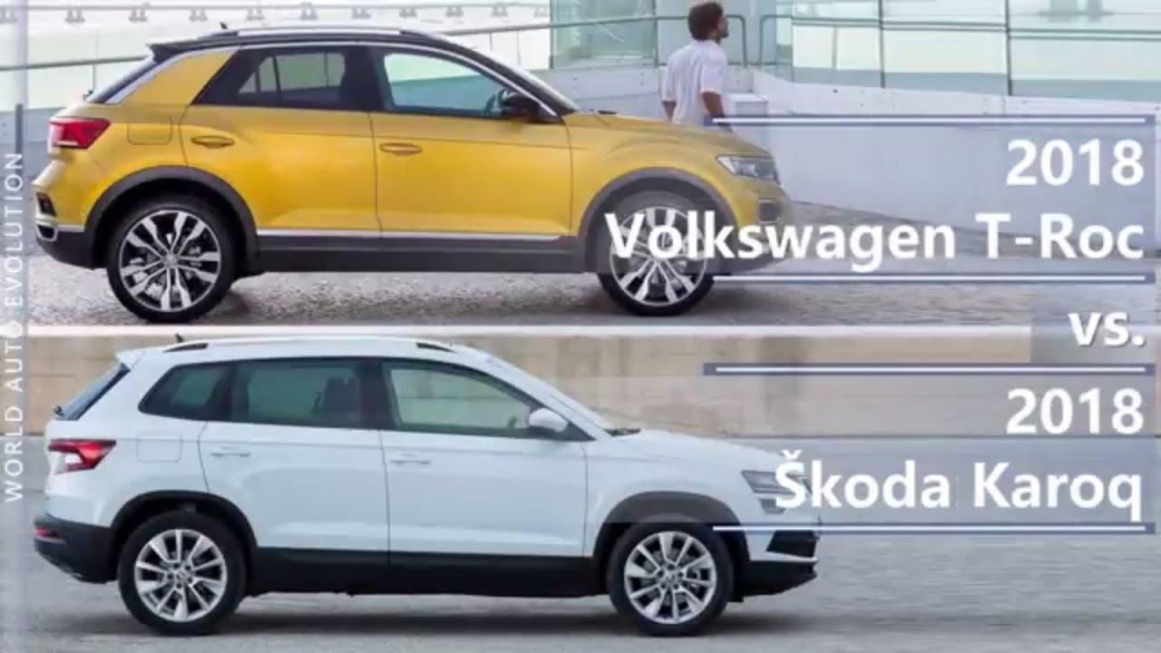 2018 volkswagen t roc vs 2018 skoda karoq technical comparison youtube. Black Bedroom Furniture Sets. Home Design Ideas