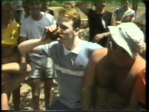 IBIZA 1984: Gary Crowley on the pss in Ibiza. 'Ear Say' UK TV broadcast. Club 1830