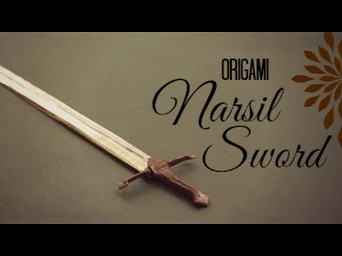 How to make an origami Sword (Narsil Sword)