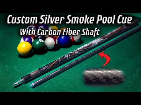 Making A Silver Smoke Custom Pool Cue With Carbon Fiber Shaft (4k)