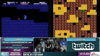 Zelda II: The Adventure of Link race by Simpol and Pro_JN in 1:02:48 - SGDQ 2016 - Part 108