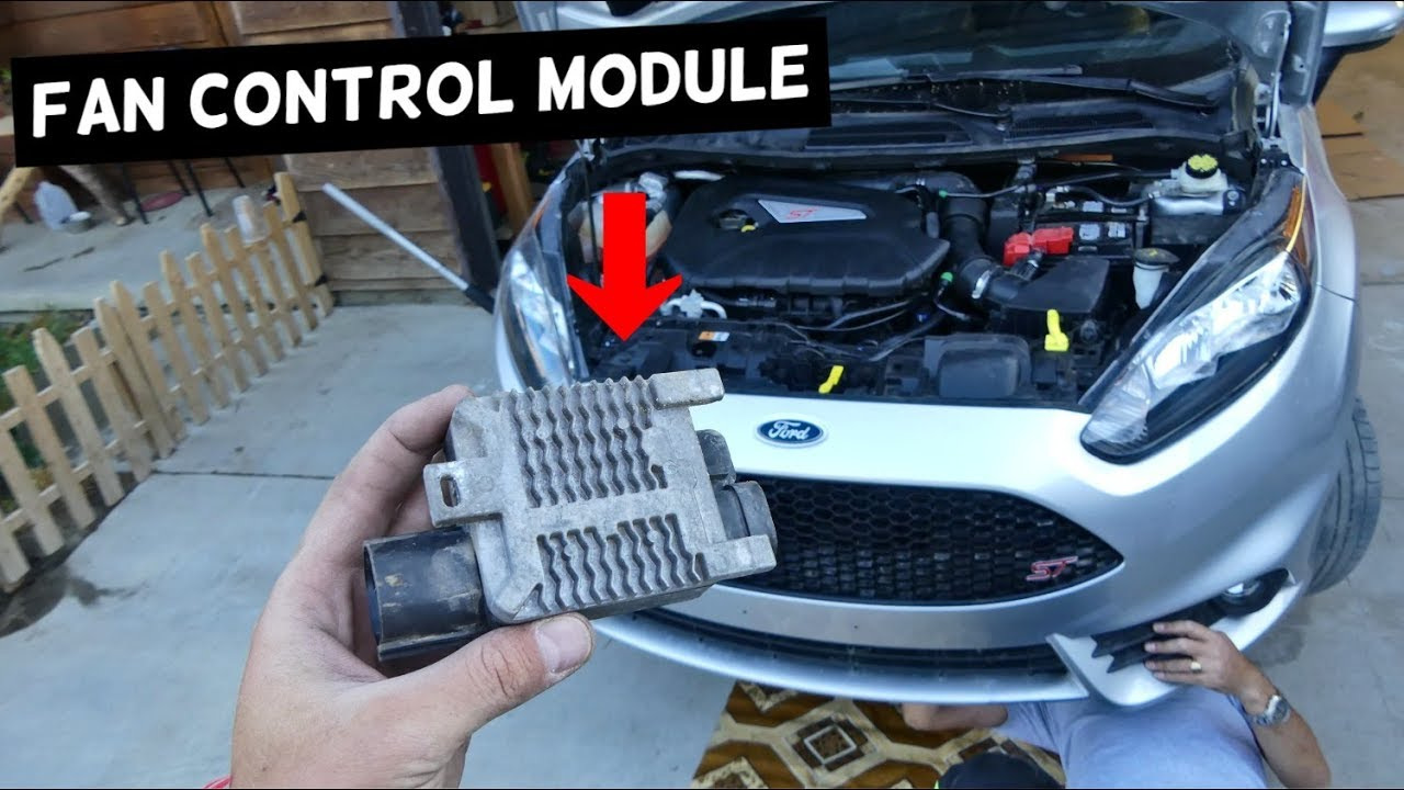 Radiator Fan Control Module Controller Replacement On Ford Fiesta 2007 Fusion Cooling System Mk7 St