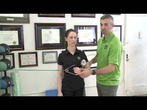 Shoulder Exercise - Internal / External Rotation of Rotator Cuff - Zion Physical Therapy Video