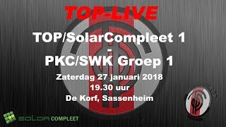 TOP/SolarCompleet 1 tegen PKC/SWK Groep 1, zaterdag 27 januari 2018