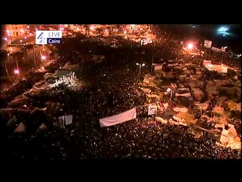 Hossam and Khalid Abdalla on Channel 4  100211  Tahrir Square