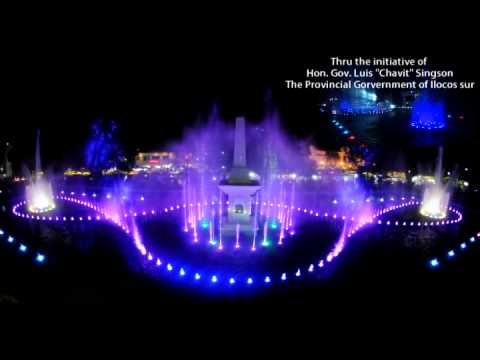 Vigan City Musical Dancing Fountain Official Video I WILL SHOW YOU(Gov Chavit Singson)