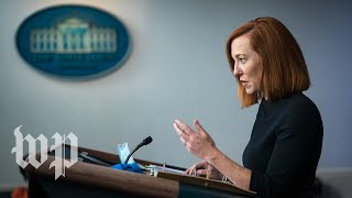 WATCH: White House press secretary Psaki holds news conference with John Kerry and Gina McCarthy