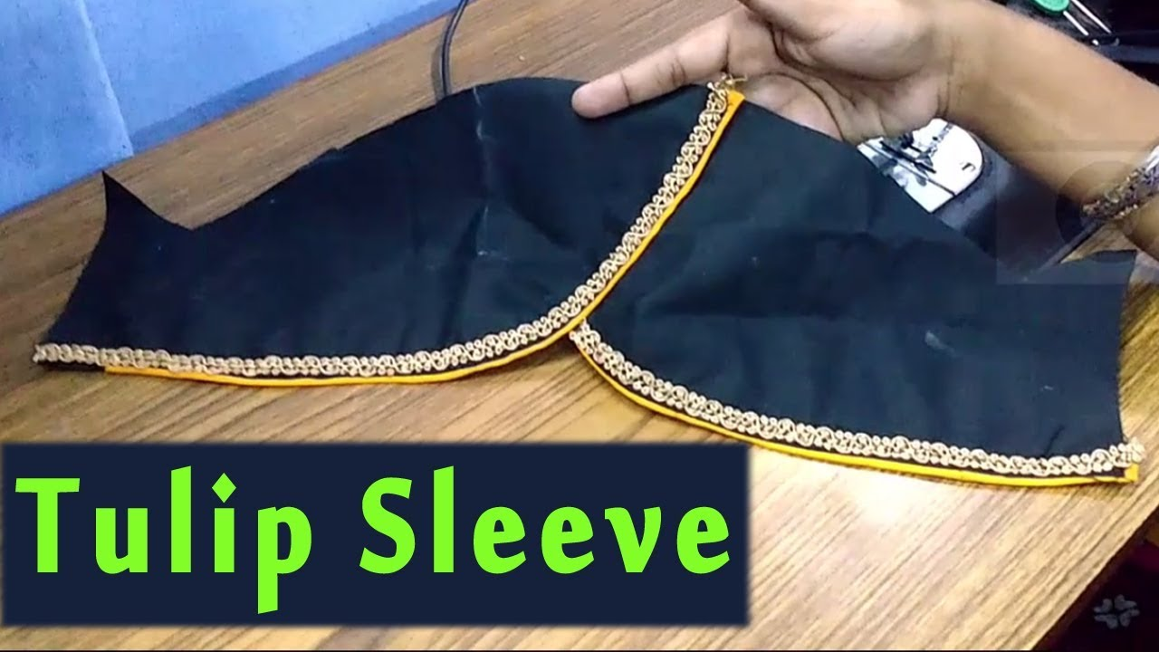 12826709717f7 tulip sleeves cutting and stitching in tamil