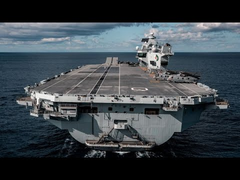 Royal Navy - Britains Biggest Warship -  HMS Queen Elizabeth - Sea Trials / Return To Pompey etc