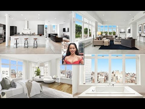 Superstar Rihanna's stylish four-bedroom penthouse duplex in New York is up for sale for $17million