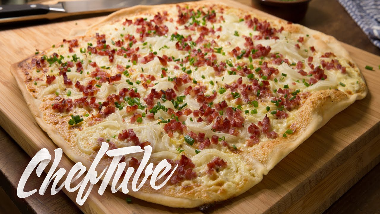 How to make Quick Tarte Flambee - Recipe in description - YouTube