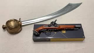 Пистолет кремниевый пиратский с черепом, Flintlock Pirate Pistol With Skull, Denix 1103/G