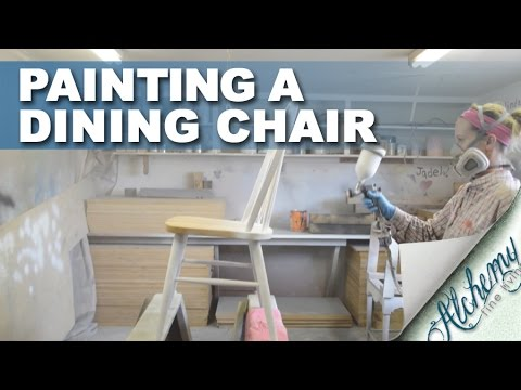 How to paint a dining chair