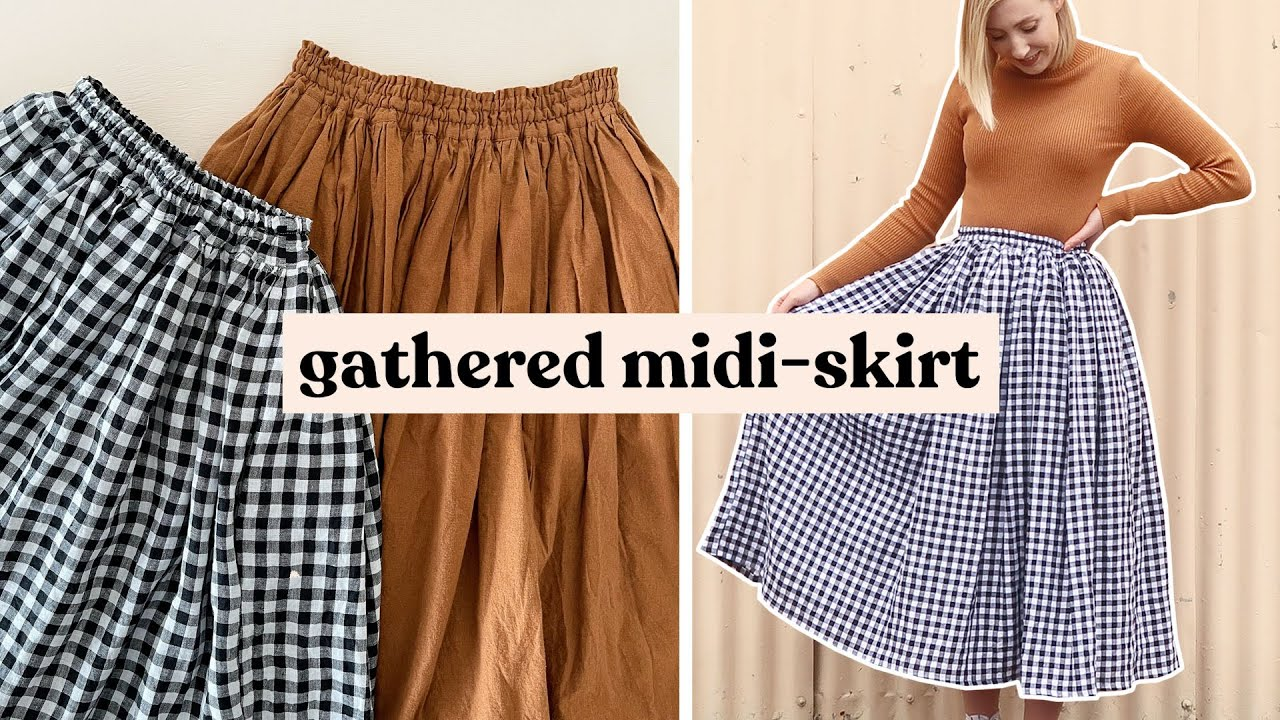 The Midi Skirt with Gathered Pockets