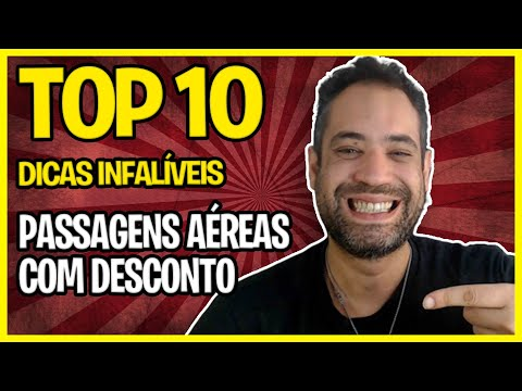PASSAGENS AÉREAS COM DESCONTO - TOP 10 DICAS INFALÍVEIS!