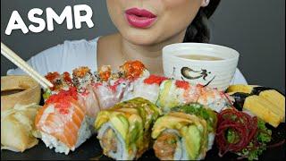 ASMR SUSHI ROLL Rainbow Roll, 911 Roll u0026 Crunch Roll * No Talking Eating Sounds | N.E ASMR