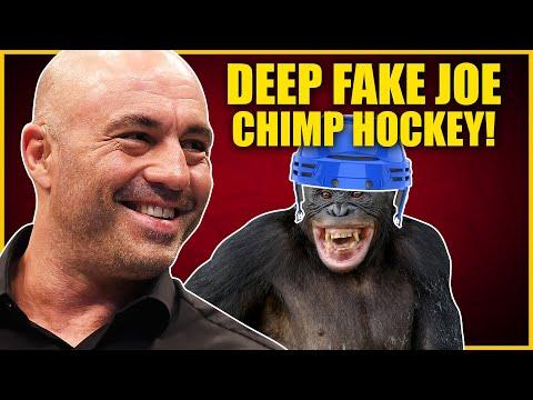 Robo Joe Rogan Sponsors Chimp Hockey Team As Deep Fakes Become Even More Realistic!