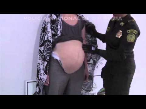 Raw: Woman Caught Smuggling Drugs in Fake Belly