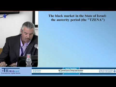 The Black Market in Israel and the Legacy of the British Mandate