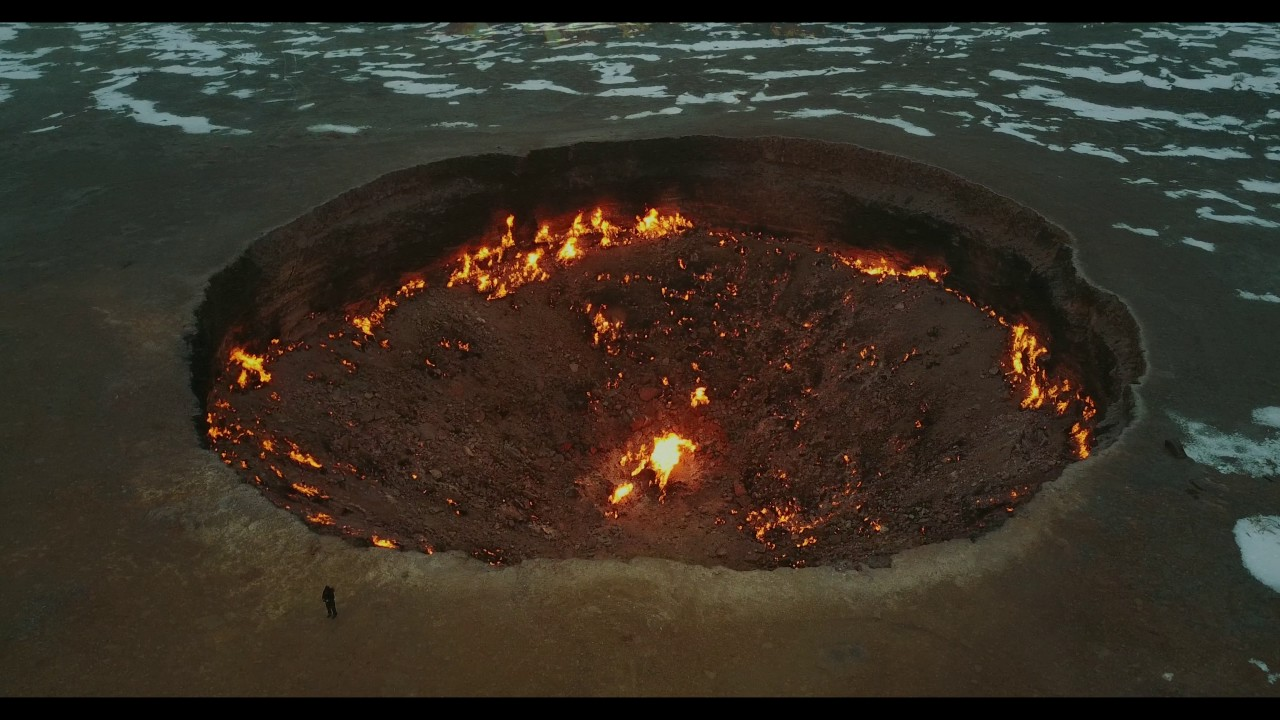 Door to Hell (Gate of Hell)  Turkmenistan gas crater 4k drone & Door to Hell (Gate of Hell)  Turkmenistan gas crater 4k drone ... Pezcame.Com