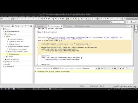 SOAP Web Services 13 - Service Interface and Custom Types