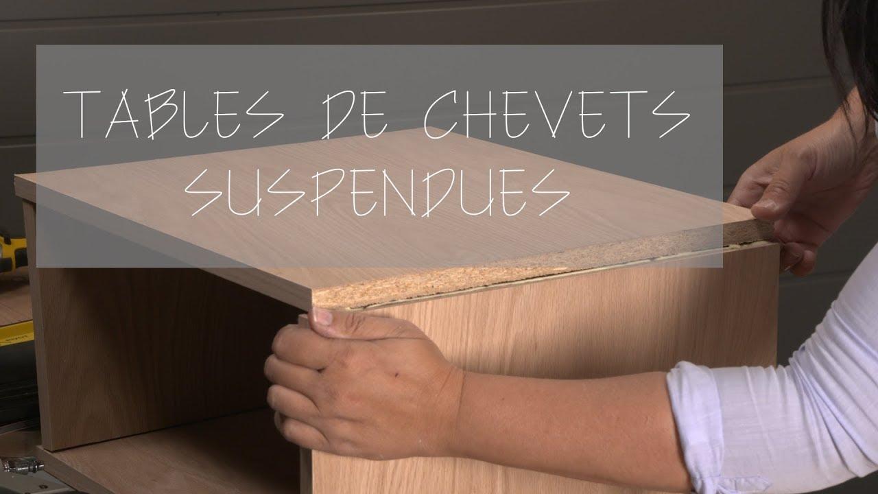 Chevet En Palette Bois espace déco - em01 - fabrication table chevet suspendue