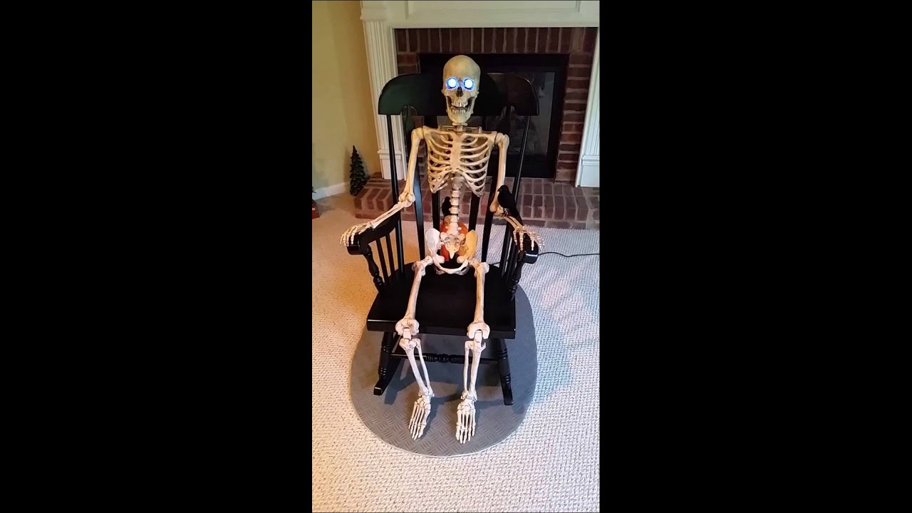 rocking chair skeleton youtube