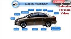 Body Car Parts Of Names Exterior