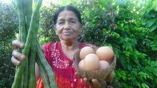 Village Foods - Cooking Drumsticks with Eggs in my Village by my Mom