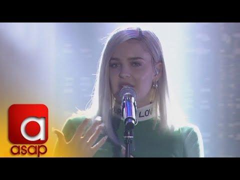 """ASAP: UK's Pop Star Anne-Marie sings """"Rockabye"""" on ASAP"""