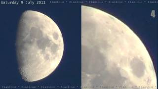 7 UFOs near Moon 9July2011 HD Too Big for 'Moon Orbs' OVNI 飞碟 НЛО ユーフォー eXoPolitcs   YouTube